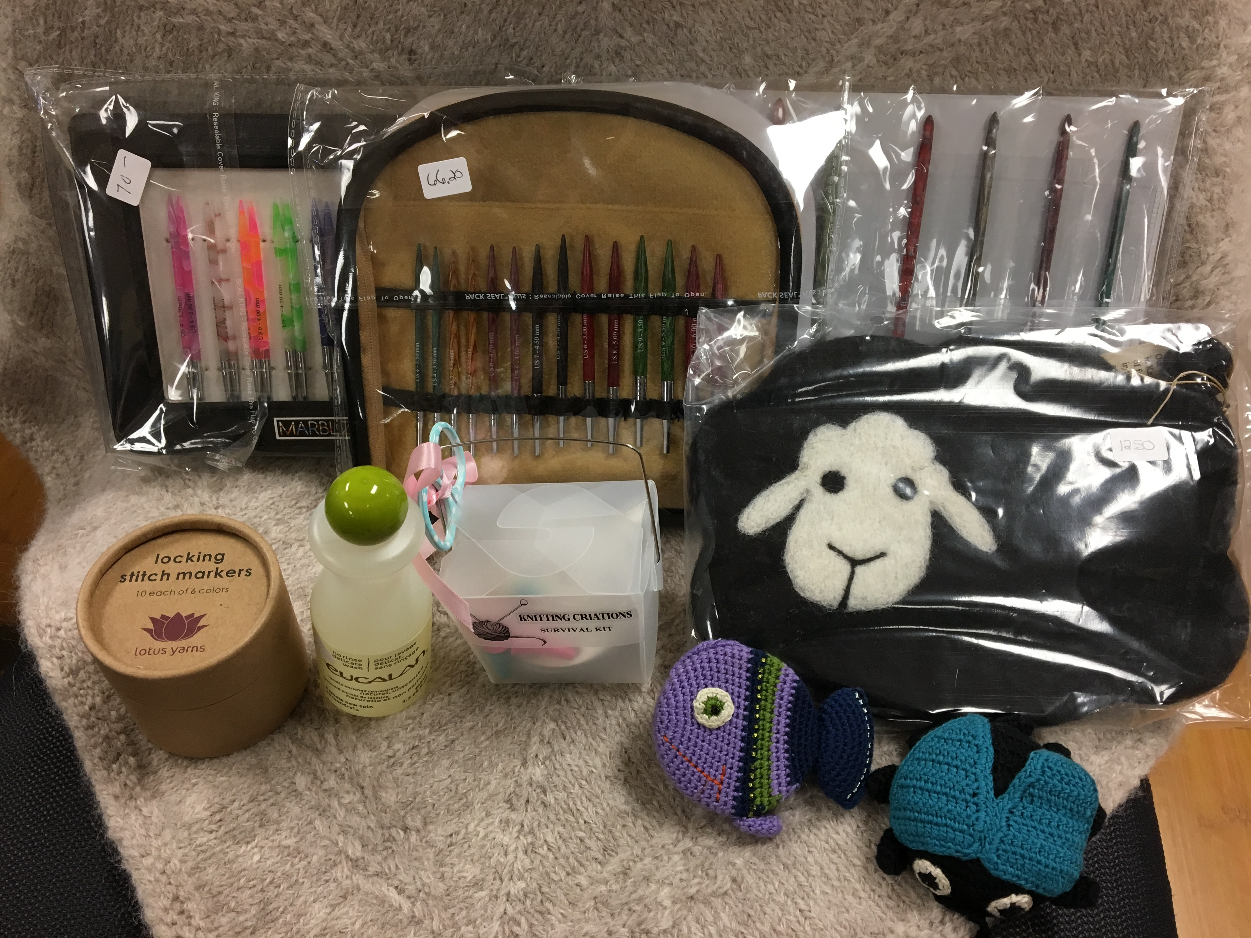 additional products sold, needles and stick markers
